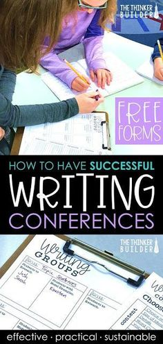 How to Have Successful Writing Conferences with Student Writers Writing Resources, Teaching Writing, Writing Activities, Writing Skills, Writing Ideas, Teaching Ideas, Kindergarten Writing, Reading Strategies, How To Teach Writing