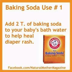 When a toddler has diaper rash & they won't get in the tub add some baking soda and they get right in, worked for my son :) I couldn't believe it