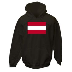 Design shows the Austrian Flag or Flag of Austria. Great for honoring your love and pride in your ethnic culture, heritage and ancestry. Travelers will love it as a memento of a vacation, holiday or trip. Teachers who think creatively will like some items for teaching tools or aids. Wonderful gift for Christmas, birthday or any special time. $75.99 ink.flagnation.com Looks great on this black hoodie. Design by @Auntie Shoe.