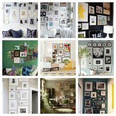 decorar casa com fotografias 620x620 Utilize mural de fotos para decorar sua casa