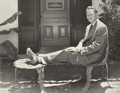 Architect John Woolf in front of his offices on Melrose Place, in Los Angeles, 1950.