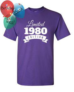 1980 Birthday Shirt 36 Limited Edition by BirthdayBashTees on Etsy