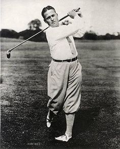 """Robert Tyre """"Bobby"""" Jones Jr. (1902-1971) American amateur golfer, and a lawyer by profession. Jones was the most successful amateur golfer ever to compete on a national and international level."""