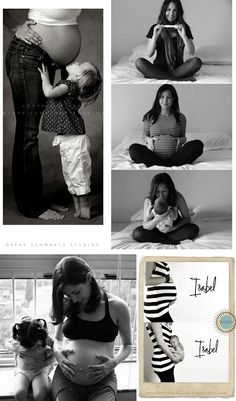 Prego Photo Ideas: Grace O'Malley Designs: Oh Baby! - like the one of the kiddo checking her stomach next to the mom