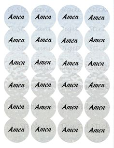 Amen Iced Paper Stickers, 24 Stickers, Digital Round Images 1 2/3 inch circle, Amen Series for Planner, Jewelry, Scrapbooking and Crafts by TiStephani on Etsy