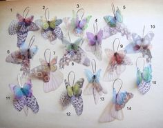Butterflies all Over Organza Earrings Ready To Ship by jewelera, $35.00