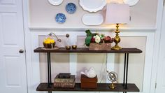 DIY @kennethwingard's Reclaimed Wood Console Table! #homeandfamily #reclaimedwood