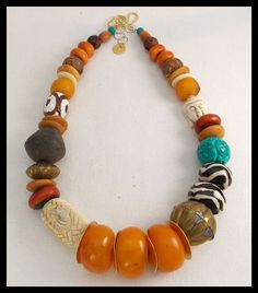 ANCIENT MEDLEY Mixed African and Tibetan by sandrawebsterjewelry