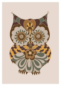 Owl art for kids II by piiapodersalu on Etsy, $22.00