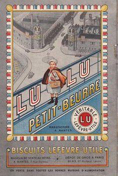 Vintage poster for LU biscuits - Lefèvre-Utile