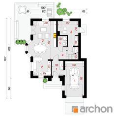 Projekt domu Dom w rukoli - ARCHON+ Beautiful House Plans, Beautiful Homes, Floor Plans, How To Plan, House, House Of Beauty, Floor Plan Drawing, House Floor Plans