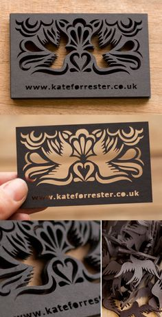 Beautiful Laser Cut Business Card Design in Business cards