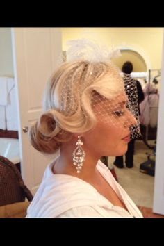 Glamour glamour glamour! Vintage wedding beauty! #FingerWaveWedding