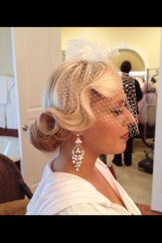 New wedding hairstyles updo vintage beautiful 59 ideas Formal Hairstyles, Vintage Hairstyles, Up Hairstyles, Wedding Hairstyles, Bridal Hairstyle, Hairstyle Ideas, Vintage Wedding Hair, Vintage Veils, Hair Wedding