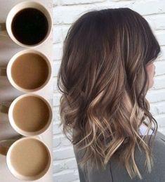 Coffee anyone? #balayage #curlyhairstyleslong