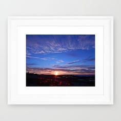 New, Blue Skies over the Setting Sun  https://society6.com/product/sunset-and-blue-sky_framed-print?curator=danbytheseacurator Follow DanByTheSea  https://society6.com/danbythesea #society6 #danbythesea