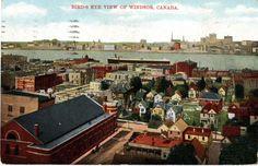 Bird's Eye View Of Windsor, Canada, 1909