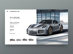 DailyUI Porsche Concept designed by PavelGnezdilov. Connect with them on Dribbble; the global community for designers and creative professionals. Modern Web Design, Web Ui Design, Graphic Design Layouts, Web Layout, Media Design, Page Design, Layout Design, Postcard Layout, Ui Design Mobile