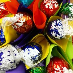 Yumm!! Party time!! #edibleblooms #lindt #chocolatebouquets