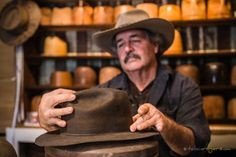 Tobin Rogers Photography - Hat Maker Matt Swisher of Swisher Hat and Supply Co. in Nampa, Idaho.