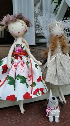 This doll is made from calico, silk and linen has netting under skirt her face and shoes are painted with fabric paint.. She has 2 recycled buffalo buttons sewn on her arms .. She has cotton hair... 38cm lang