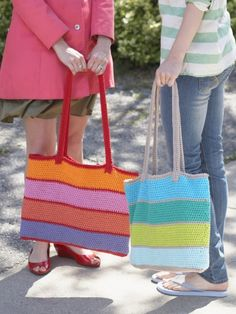 Market Tote Bag | Yarn | Free Knitting Patterns | Crochet Patterns | Yarnspirations-easy