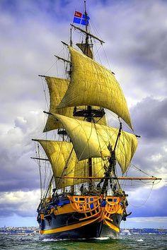 Sailing the high seas .....