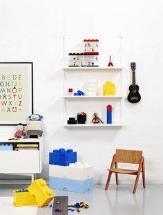 Mattone Lego Storage Cesta Contenitore a 8 bottoni colore bianco: Amazon.it: Casa e cucina