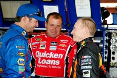 Martin Truex, Ryan Newman, and Mark Martin