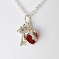 A Marine Holds the Key to My Heart Necklace by SweetPeaTreasures, $16.00