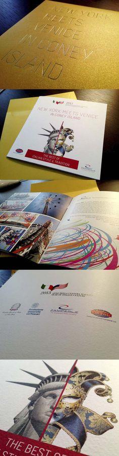 New York Meets Venice in Coney Island - #graphic #brochure