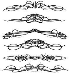 Pin striping