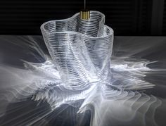 Gorgeous glass objects created with a printer. Researchers from MIT have created a printer that is able to create objects out of glass. Impression 3d, Neri Oxman, Interaktives Design, 3d Printing Materials, Building Materials, Diy 3d, Glass Structure, 3d Printing Service, Glass Printing