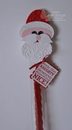 "Stamp: Tags till Christmas  Ink: Real Red  Card Stock: Real Red, White, Black, and Pink Pirouette  Accessories: Cello Bags, Wide Oval Punch, Large Oval Punch, Owl Punch (for eyes), Bird Punches, Ornament Punches, Dazzling Details, Two Way Glue Pen, 1/8"" Real Red Taffeta Ribbon, Big Shot Machine, Petals a Plenty Impression Folder, Lace Border Impression Folder, Scallop Square Punch, and White Gel Pen."