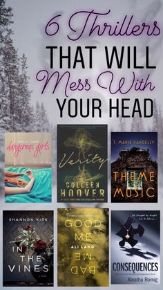 6 Thrillers That Will Mess With Your Head Best Books To Read, I Love Books, Great Books, My Books, This Book, Nook Books, Teen Books, Story Books, Book Nerd