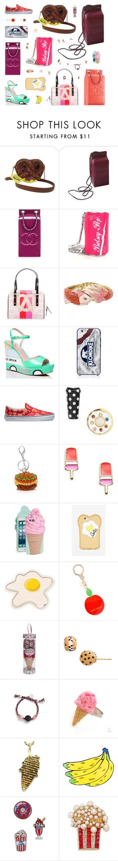 """""""Trending Now: Food Fashion #7"""" by belenloperfido ❤ liked on Polyvore featuring Betsey Johnson, Chanel, Kate Spade, Vans, House of Holland, Lolli Swim, Anya Hindmarch, Venessa Arizaga, Sweet & Co. and Yazbukey"""