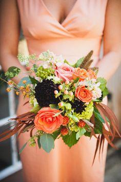 Wedding Flowers Summer Peach Bridesmaid Dresses 64 Ideas For 2019 Peach Bridesmaid Dresses, Black Bridesmaids, Black Wedding Dresses, Floral Bouquets, Wedding Bouquets, Wedding Flowers, Summer Wedding Colors, Orange Wedding, Trendy Wedding