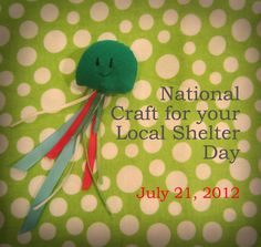 Jellyfish Cat Toy DIY for 'National Craft for your Local Shelter Day'