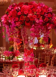 tropical tall centerpiece, preston bailey event ideas wow ! the dream for my wedding..... ouch! amazing... jaw dropping