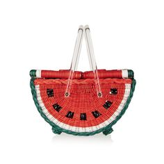 Image of CHARLOTTE OLYMPIA Watermelon Basket straw tote