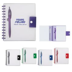 Spiral Notebook with Dart Pen - Promotional Clipboards & Jotters - rushIMPRINT
