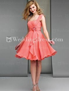 Casual Short Chiffon One-Shoulder A-Line Bridesmaid Dress Maternity  Bridesmaid Dresses 749a391d6