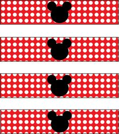 Bottle Labels for Mickey Mouse Party