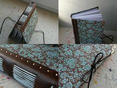 zápisník A6 / handmade / leather & paper / long stitch binding / originálny