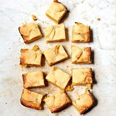 For an afternoon tea with a twist try our fab lemon shortbread recipe. Crumbly with a fruity centre, these biscuit bakes are the perfect afternoon treat. Shortbread Cake, Shortbread Biscuits, Shortbread Recipes, Biscuit Cake, Brownie Bar, Lemon Curd, Tray Bakes, Afternoon Tea, Cornbread