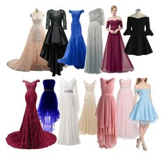 """""""Gowns"""" by tumblrbrat on Polyvore featuring NLY Eve, Christian Pellizzari, Chicwish, Raishma and Disney"""