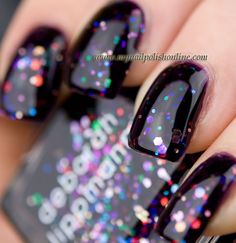 Beautiful glitter polish giveaway from My Nail Polish Online. color is Deborah Lippmann Let's go Crazy