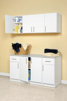 Winslow White 32-inch Elite Base Cabinet with 2 Doors by Prepac ...