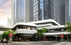 Retail Architecture, Architecture Building Design, Architecture Portfolio, Facade Design, Futuristic Architecture, Mall Facade, Retail Facade, Shop Facade, Seaside Apartment