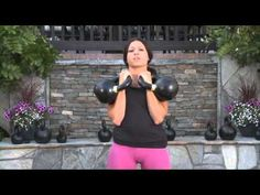 Double Kettlebell Front Squats by Lauren Brooks